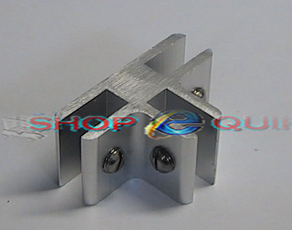 ... 3 Way Glass Cube Connector Aluminium