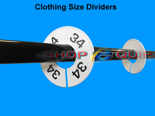 Clothing Rail Size Dividers