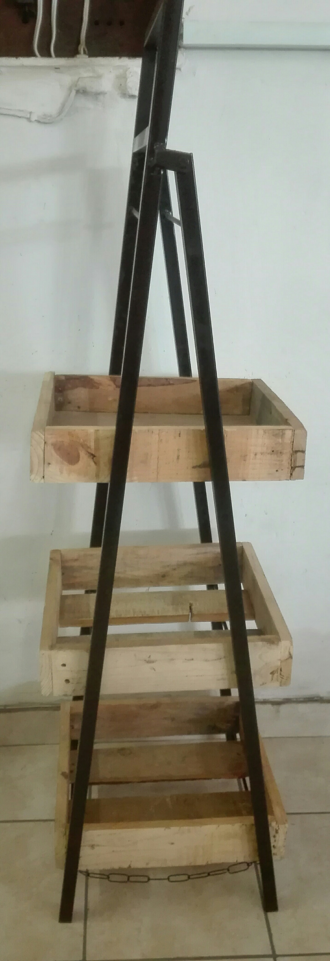 3 Tier Rustic Crate Display Stand